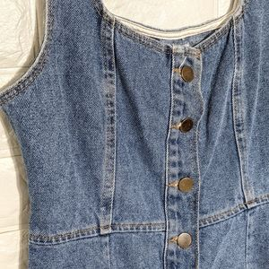 Urban outfitters button front denim dress